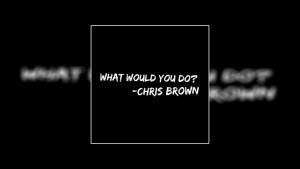 What Would You Do – Chris Brown